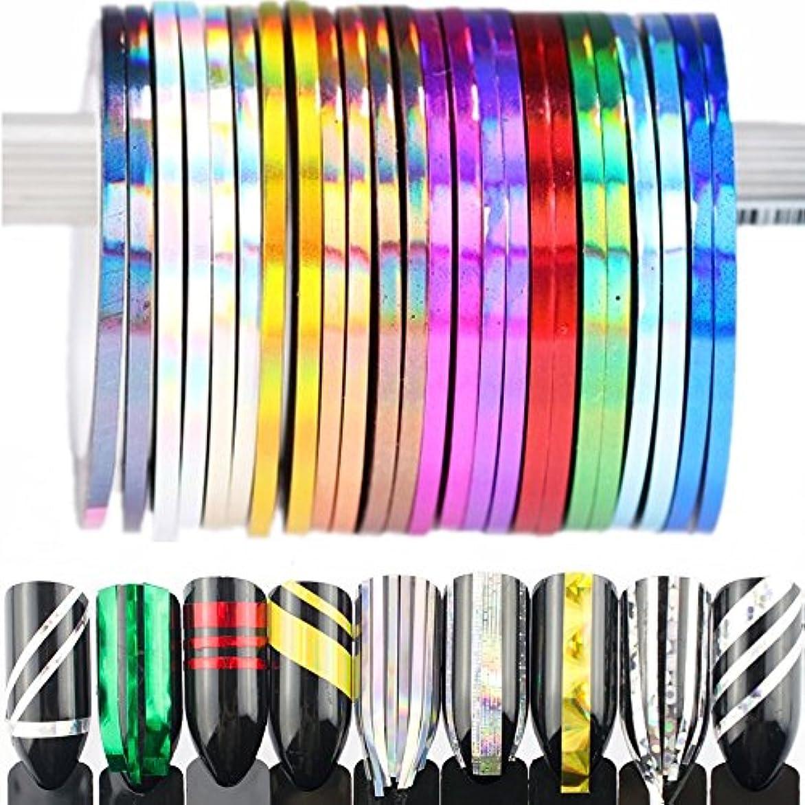 巨大なトランスミッション通り抜けるBlueZOO (ブルーズー) レーザーラインテープ 幅0.8mm/2mm/3mm ジェルネイルアート用品 輝き ゴールド シルバー フレンチ ライン テープ ネイルシール ストライピングテープ 爪 アクセサリー