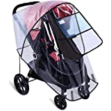 Stroller Rain Cover by Hombae, Universal Baby Stroller Weather Shield, Waterproof Stroller Cover, Travel Umbrella Stroller Wi