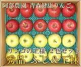 サンふじ・王林2色セット 秀品 5kg箱 特別栽培 (青森県 阿部農園) 産地直送