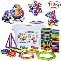 磁気ブロック118個磁気おもちゃ、磁気Bloksの少年少女、