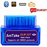 ELM327 OBD2スキャンツール BLUETOOTH v1.5 自動車 故障診断機 mini obd2スキャナー 日本語マニュアル 設置簡単車両のECU情報をアプリでチェック *iPhoneは対応できません