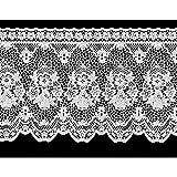 ガラスフィルム ウインドーレース 透かし花柄 幅90×丈30cm ホワイト ML-3003