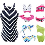 E-TING Quality Swimsuits Doll Clothes Bikini One-Piece Swimsuit for Girl Dolls (#A)