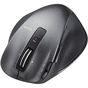 エレコム ワイヤレスマウス 無線 2.4GHz レーザー 8ボタン チルトホイール Sサイズ ブラック M-XGS20DLBK
