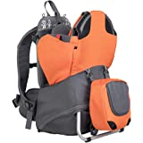 phil&teds Parade Child Carrier Frame Backpack, Orange Compact, Lightweight (4.4lbs), 2 Year Guarantee
