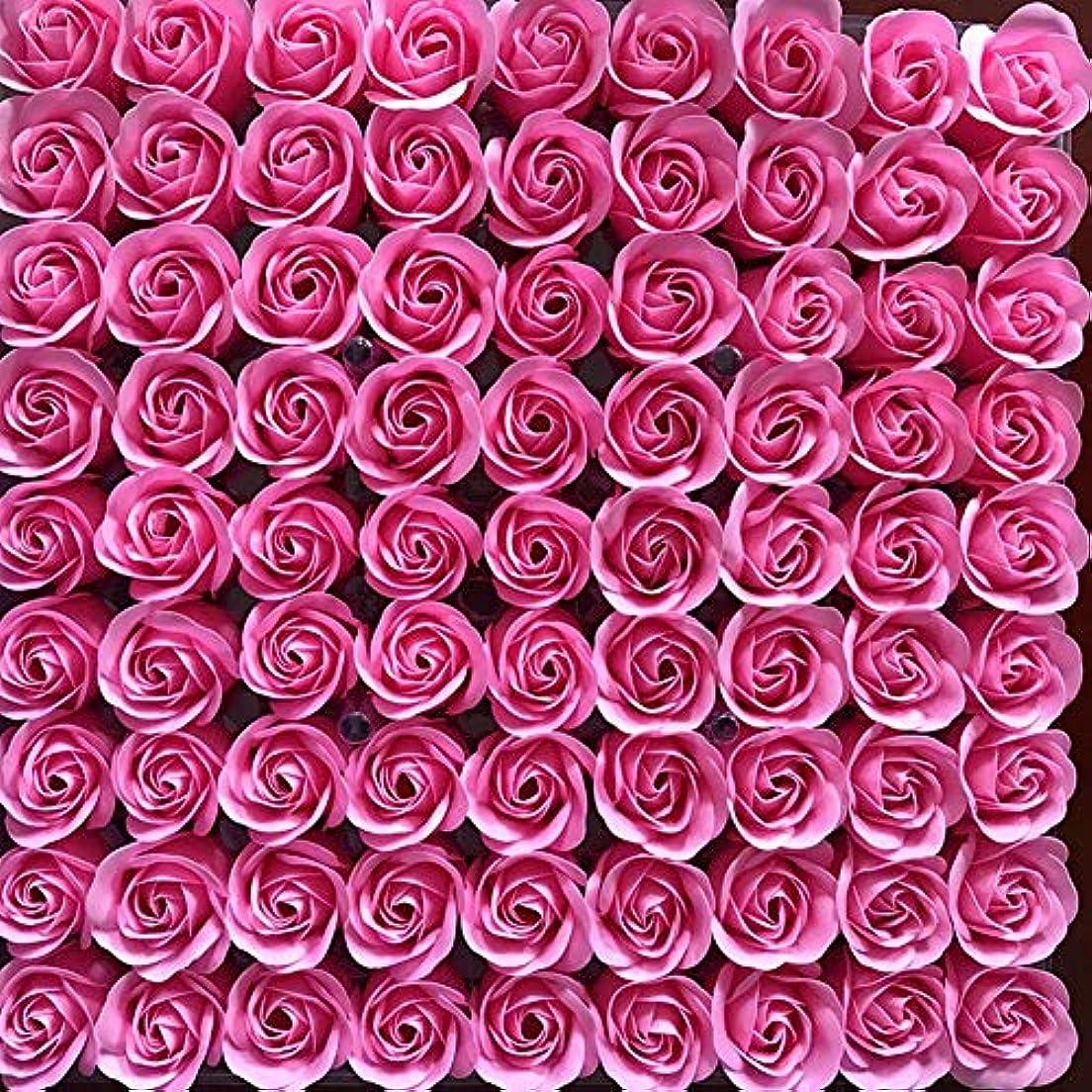 カポック雑多なバラバラにする81PCS DIY ボディソープ バラ ローズ 洗濯用 フラワーソープ 良い香り 三層 贈り物 結婚披露宴 バレンタインデーギフト 石鹸の花+ボックス