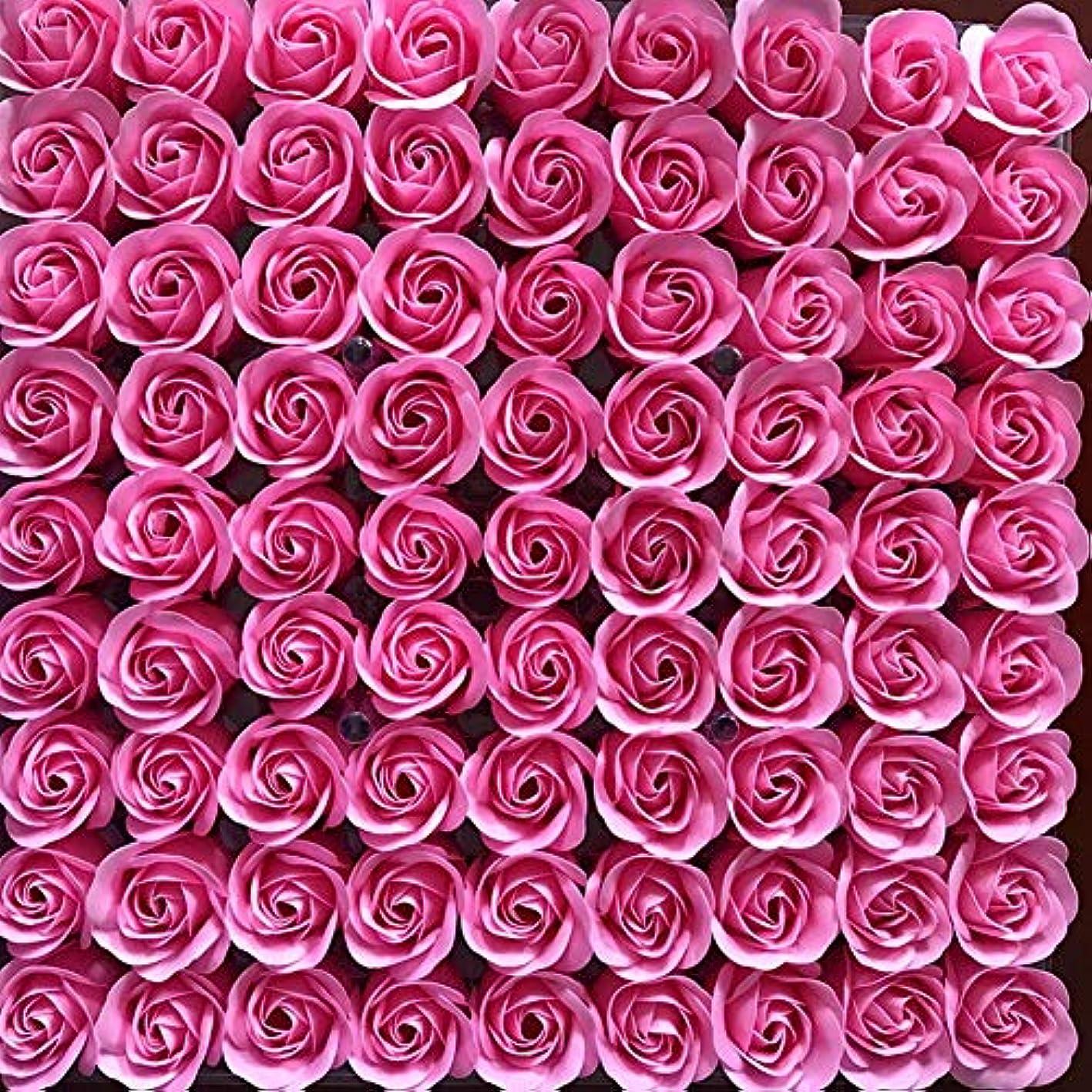 子供達全滅させるアルプス81PCS DIY ボディソープ バラ ローズ 洗濯用 フラワーソープ 良い香り 三層 贈り物 結婚披露宴 バレンタインデーギフト 石鹸の花+ボックス