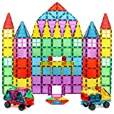 Magnet Build Deluxe 100 Piece 3D Magnetic Tile Building Set, 100 Pieces