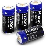 Hixon 電池 CR123A 充電池 4本 3.7V 900mAh rcr123a 交換用 バッテリー カメラ電池 大容量 電池4個 Qrio LockQ-SL2 Arlo カメラ (電池4本)