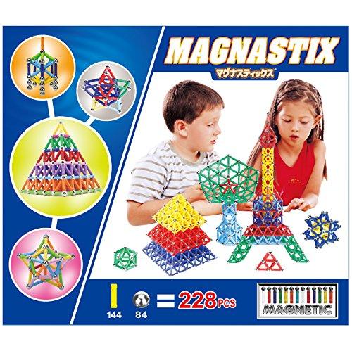 マグナスティックス® 【 算数 や 図形 脳 がグングン 育つ 】 3D マグネット パズル  (2...