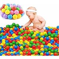 Pit Ballsカラフル楽しい非毒性フタル酸フリーCrush Proofボールソフトプラスチック海洋ボールPlayballs for Baby KidsテントSwim Toysボール DSFFEWRT