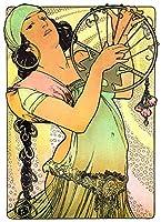 Salome、1897年Alphonse Muchaアール・ヌーヴォーReproduction Rolledキャンバスプリント24x 32で。