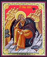 Saint Prophet Eliasロシア正教アイコン木製3インチ