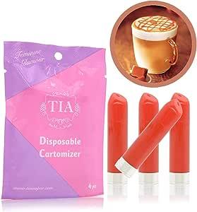 TIA ティア ビタミン入り 口紅型 電子タバコ 専用 フレーバーカートリッジ (キャラメルマキアート)