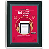Headlineview A4 Display Book with 20 Clear Pocket Sheet Protectors and customiseable Front Cover Window Insert – Portrait – B
