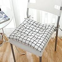 布 チェアパッド, 枝編み細工品 キルト 元に戻せる状態 格子 自然 スクエア ふわふわ オフィスの椅子 通気性 スリップ クッション 健康クッション チェアパッド-A 45x45cm(18x18inch)