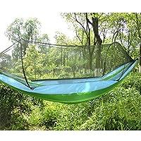 屋外蚊帳ハンモック超淡色マッチングダブルキャンプ250×120 cm A