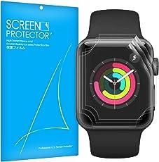 Apple Watch Series 4 40mm 保護フィルム Qosea 貼り直し可 気泡ゼロ ケースに干渉せず 3枚セツト 99% 透過率 3Dtouch対応 超薄型 指紋飛散防止 厚さ0.16mm