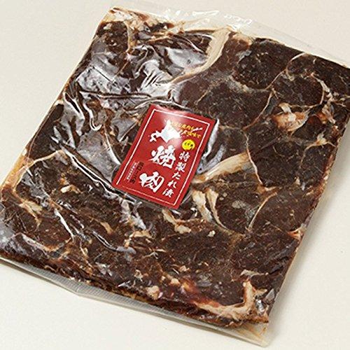 オリジナルの特製えぞ鹿肉エキスのたれで漬け込んだ逸品!お徳用えぞ鹿のロース肉特製たれ漬 1kg