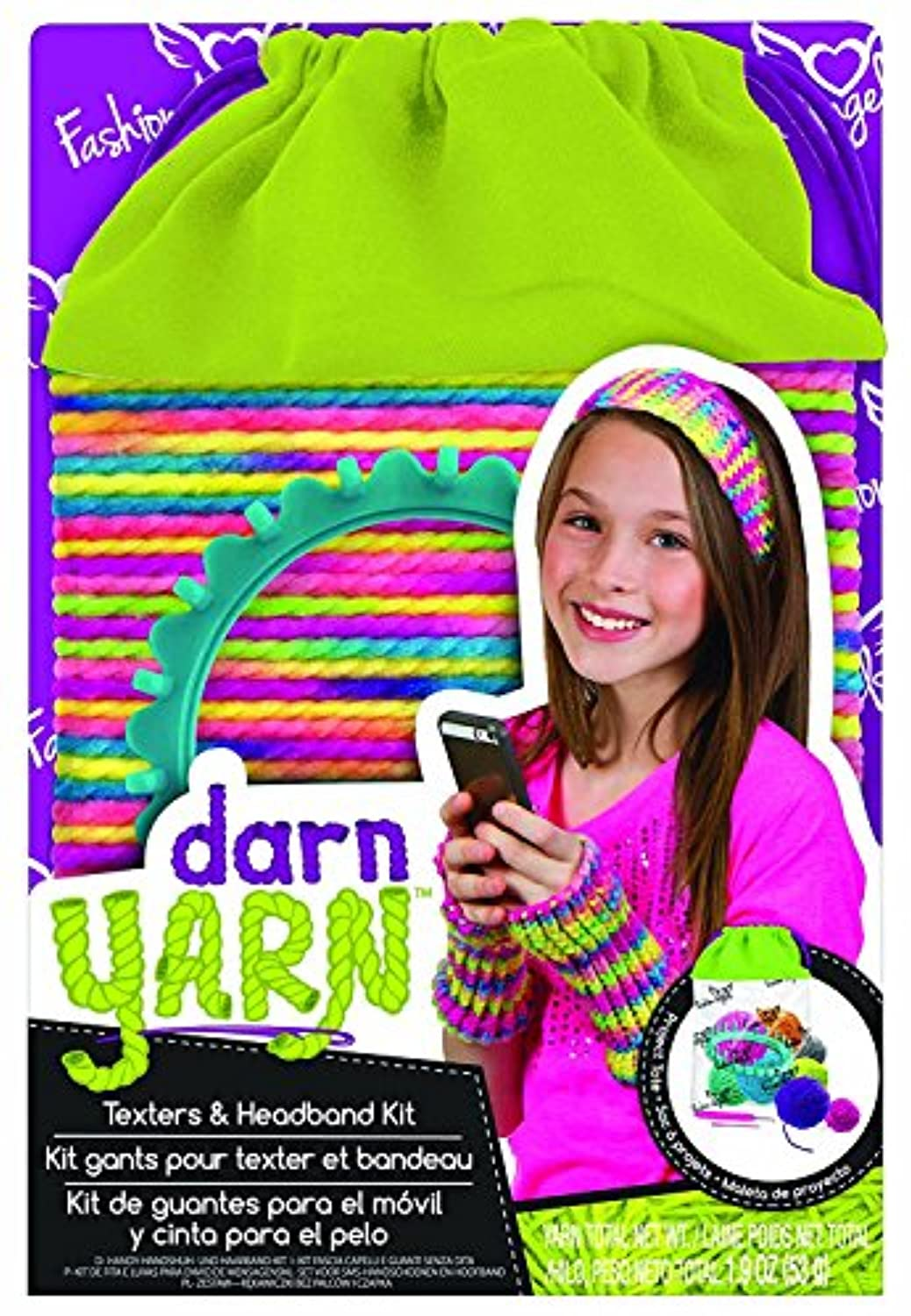 Fashion Angels Darn Yarn Texters & Headband Kit [並行輸入品]