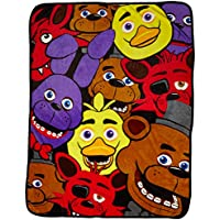 [バイオワールド]bioWorld Five Nights at Freddy's Multi Character Fleece Throw Blanket, 48 x 60 190371264986 [並行輸入品]