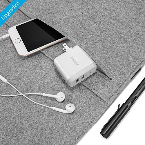 『Anker PowerPort 2 (24W 2ポート USB急速充電器 折畳式プラグ搭載) iPhone 6s / 6 / 6 Plus、 iPad Air 2 / mini 3、 Galaxy S6 / S6 Edge/Edge+、 Note 5 など対応 (ホワイト) A2141123』の6枚目の画像