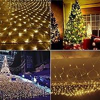 妖精のメッシュ文字列ライト、led装飾ロマンチックな暖かい防水Gypsophilaネットライトクリスマス屋外結婚式の装飾的なライト - 暖かい白 3 * 2m