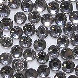 高品質 アクリルストーン ラインストーン ラウンドフラット 約1000粒入り 3mm ブラックダイヤモンド