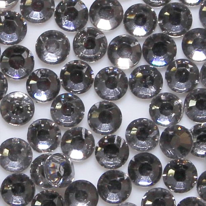 無人太平洋諸島なめらか高品質 アクリルストーン ラインストーン ラウンドフラット 約1000粒入り 4mm ブラックダイヤモンド