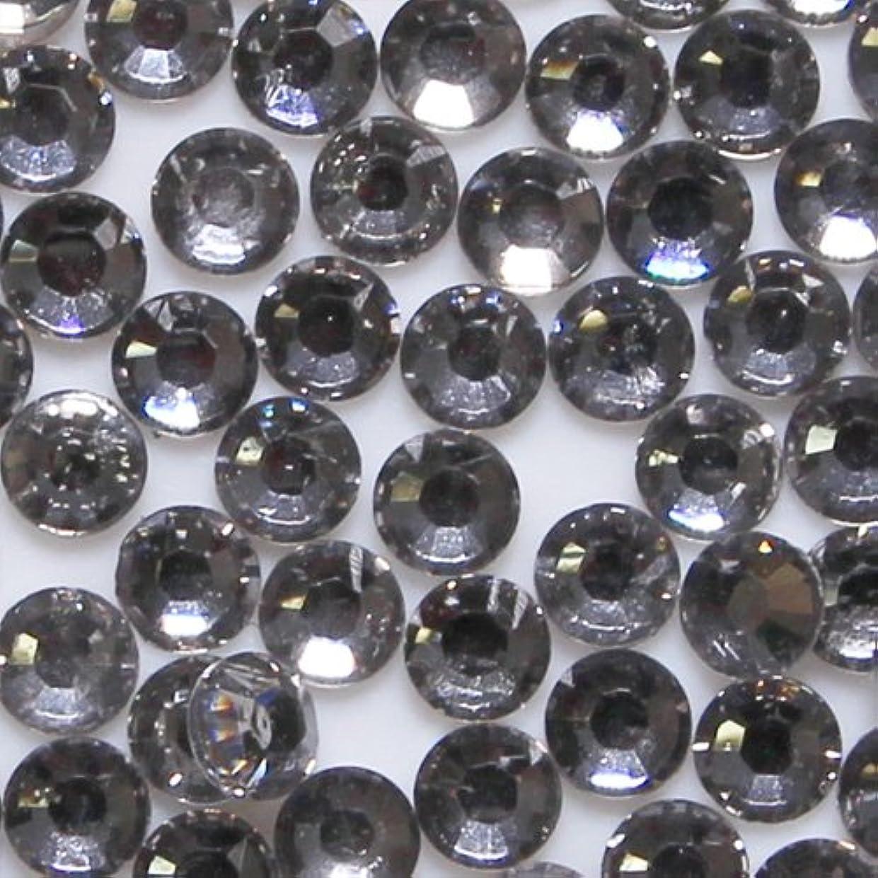 ロボット不愉快息苦しい高品質 アクリルストーン ラインストーン ラウンドフラット 約1000粒入り 3mm ブラックダイヤモンド