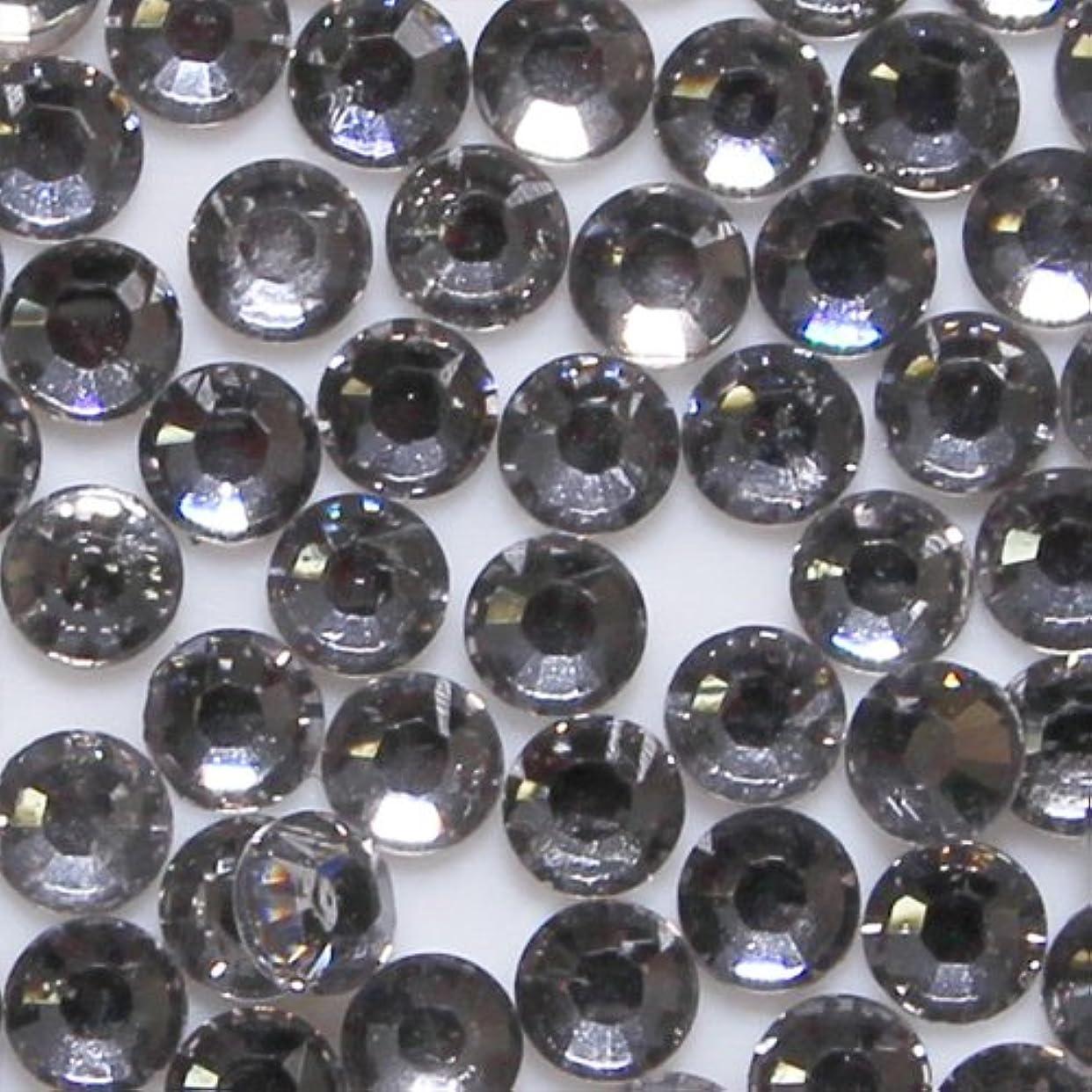 シンボル鎮痛剤レンジ高品質 アクリルストーン ラインストーン ラウンドフラット 約1000粒入り 2mm ブラックダイヤモンド