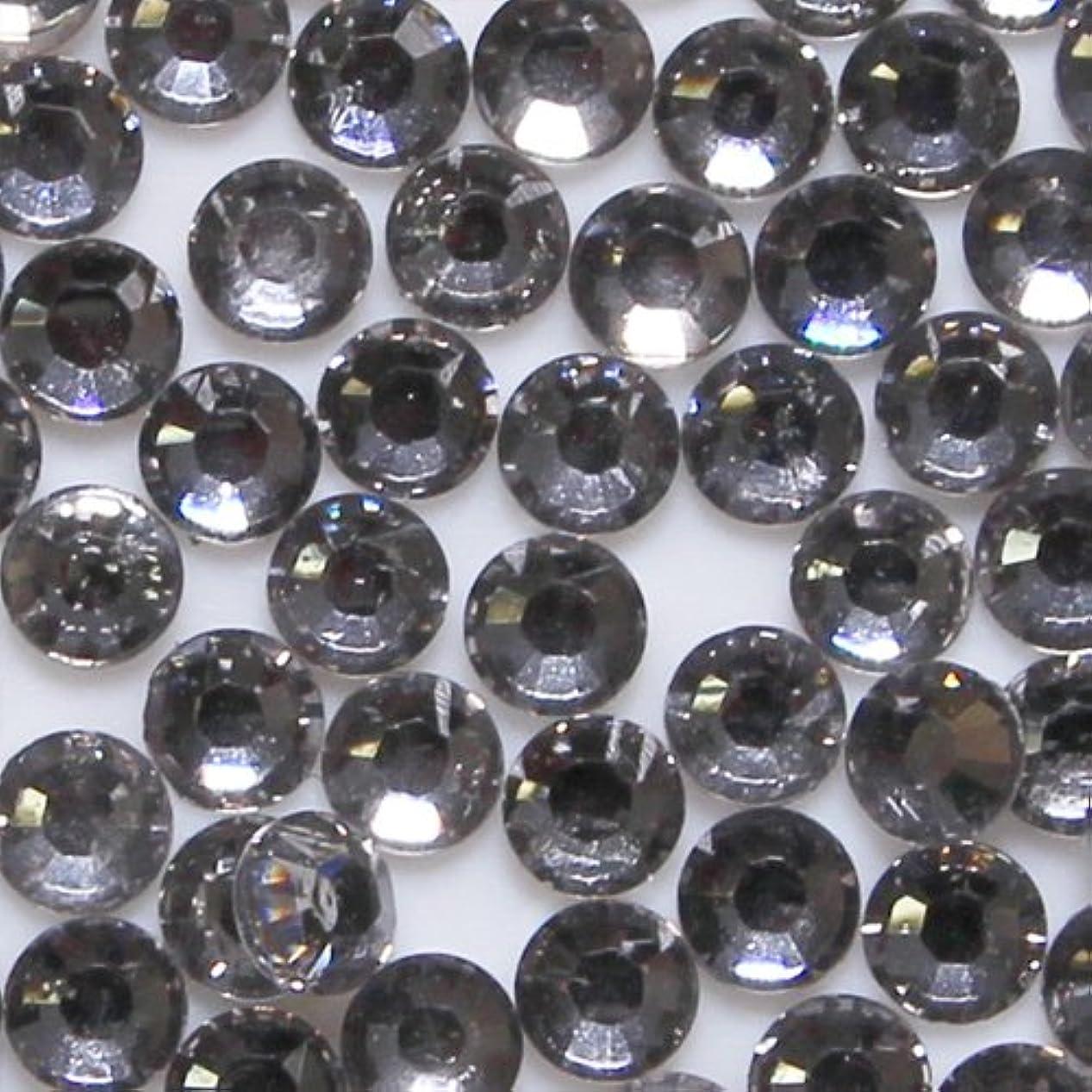 自然動作模索高品質 アクリルストーン ラインストーン ラウンドフラット 約1000粒入り 4mm ブラックダイヤモンド
