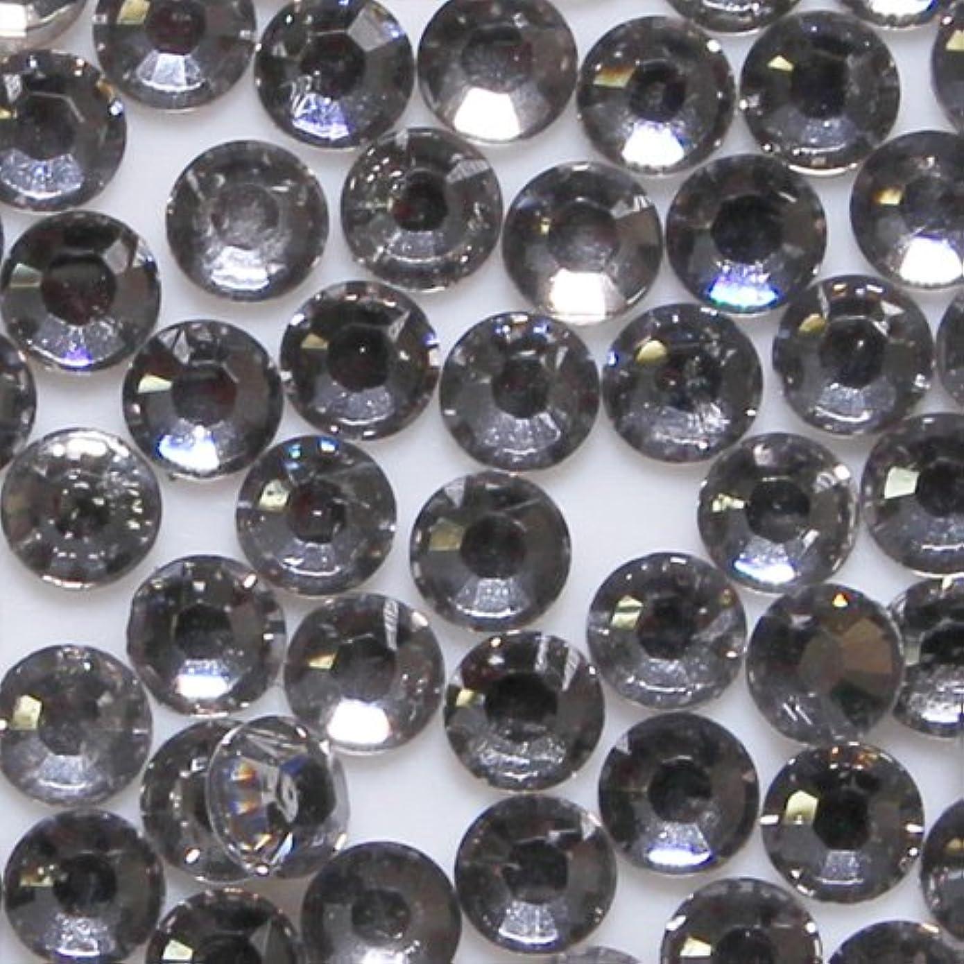 ポテトオゾンクラウン高品質 アクリルストーン ラインストーン ラウンドフラット 約1000粒入り 4mm ブラックダイヤモンド