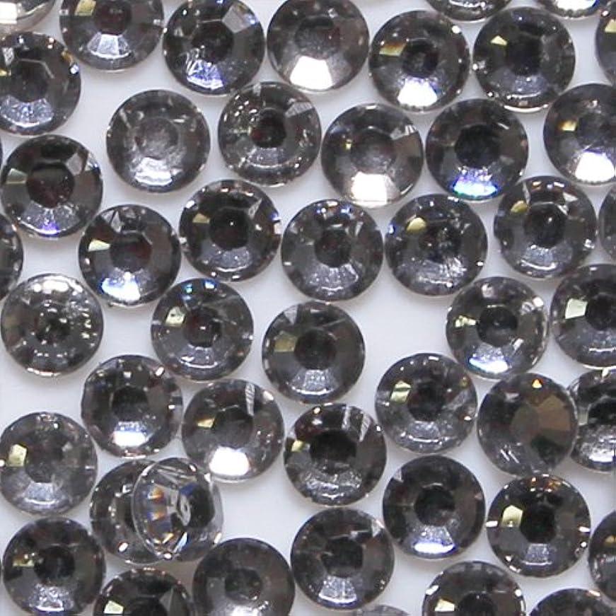 高品質 アクリルストーン ラインストーン ラウンドフラット 約1000粒入り 4mm ブラックダイヤモンド