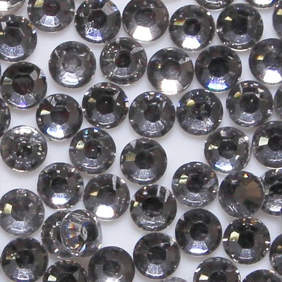 ストリーム繁殖所有者高品質 アクリルストーン ラインストーン ラウンドフラット 約1000粒入り 3mm ブラックダイヤモンド