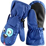 Zonexu スキーグローブ キッズ 子供用 ミトン 手袋 防水 防寒 防風 暖かい 滑り止め 2-8歳 スキー手袋 雪遊び 通学 男児 女児 幼児