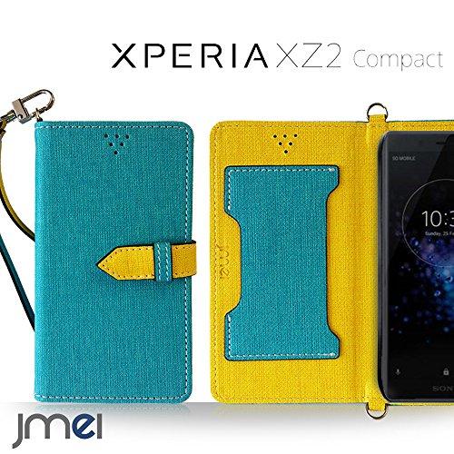 Xperia XZ2 Compact ケース SO-05K 手帳型 エクスペリア xz2 コンパクト カバー ブランド 閉じたまま通話ケース VESTA ブルー sony ソニー simフリー スマホ カバー 携帯ケース 手帳 スマホケース 全機種対応 ショルダー スマートフォン