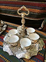Ottoman Turkish Greek Arabic Coffee Mテツアrra Espresso Serving Cup Gift Set by Fairturk