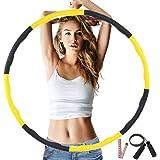 フラフープ ダイエット 大人 子供兼用 3点セット 縄跳び・テーラーメジャー付き 組み合わせ自由 8本 直径76、88、96cm対応 3サイズ調整可能 ウエスト 引き締め 有酸素運動 新体操 用品 1.2kg