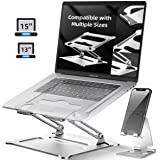 Laptop Stand Notebook Foldable Holder, Ergonomic Adjustable Ventilated for MacBook Air Pro, Dell, HP, Lenovo Aluminum Up to 1