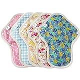 布ナプキン Mサイズ 5枚セット 薄手 防水布入り ふつうの日多い日昼用 生理ナプキン エニュアンス オーガニックコットン使用
