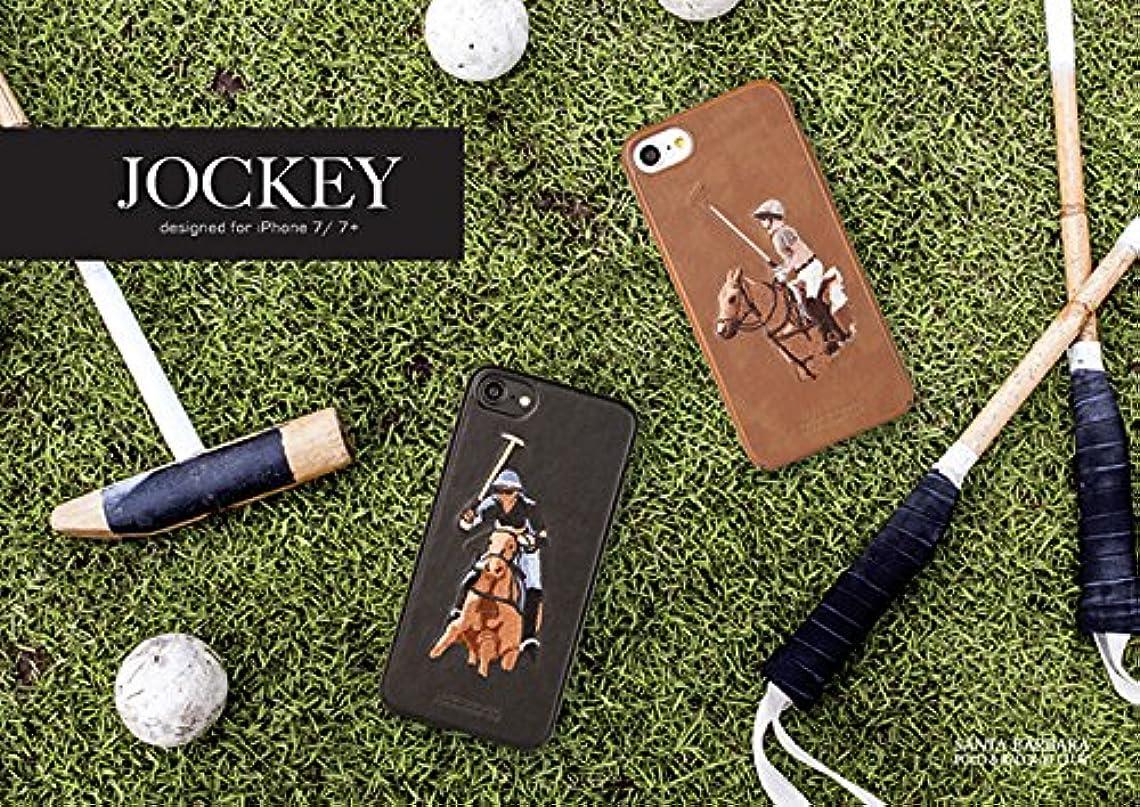 テーブルを設定する帰する優しいSANTA BARBARA Polo & RACQUET CLUB® Apple Jockey iPhone 7 (4.7インチ) ケース Ebony  SB-IP7SPJOK-BLK