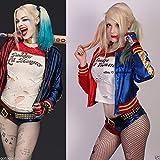 スーサイドスクアッド ハーレイクイン コスプレ衣装 サイズM DC Movie Suicide Squad Harley Quinn Shirt Belt Glove Jacket Cosplay Costume Full Set [並行輸入品]