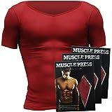 加圧シャツ 加圧インナー 筋トレ用 ダイエット用 MONOVO マッスルプレス(5カラー/2サイズ) 3枚セット