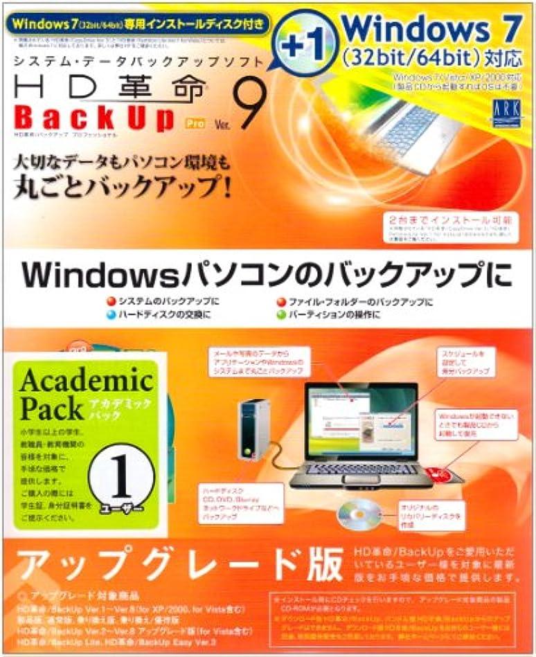 静的トラクター構造的HD革命/BackUp Ver.9 for Windows7 Pro アカデミックパック1ユーザー アップグレード版