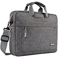Mosiso Polyester Messenger Laptop Shoulder Bag Protective Briefcase Carrying Case with Adjustable Depth at Bottom
