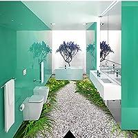 3 D ステレオ花庭道床粘着リビングルームのロビーの床の通路の壁画壁紙 430cmX300cm