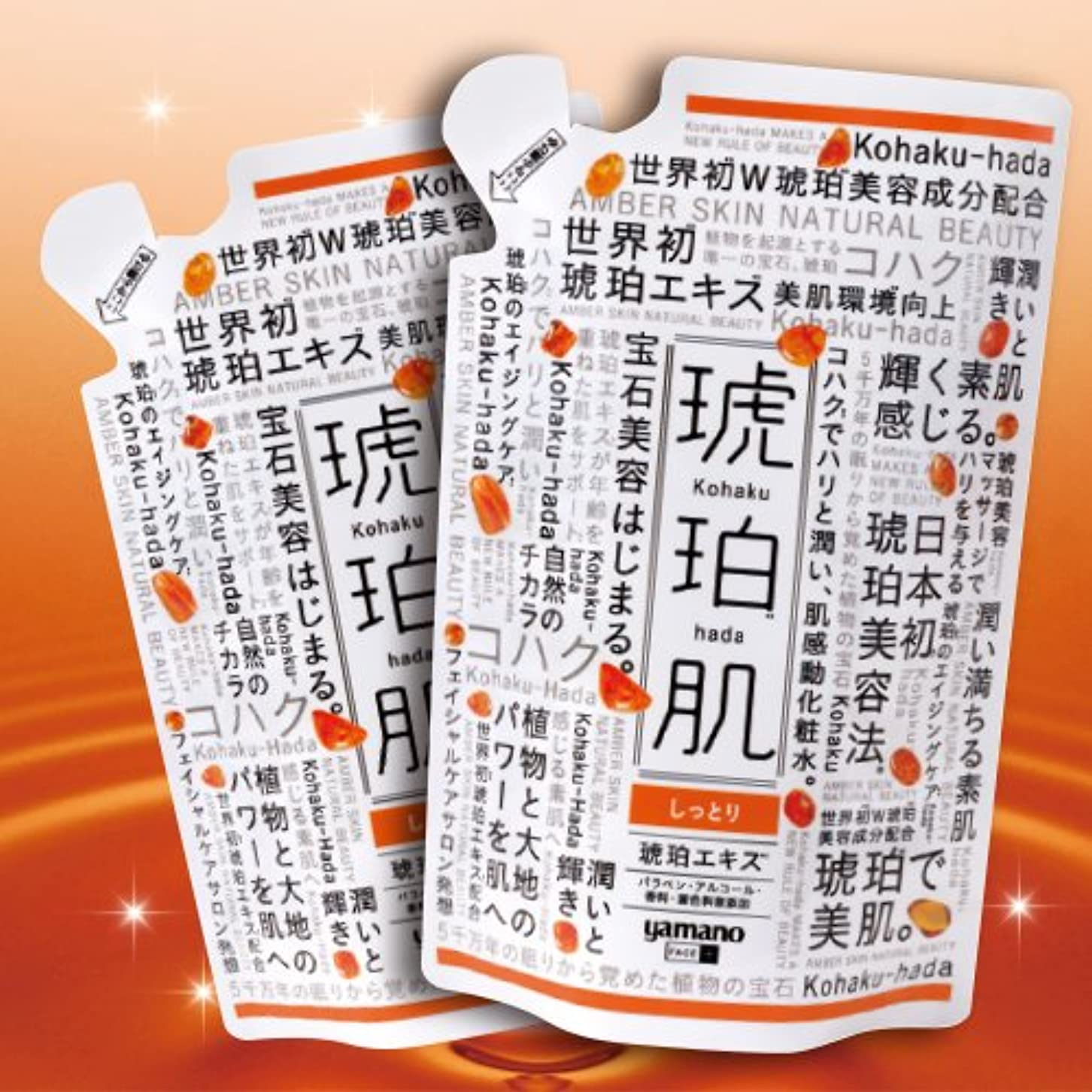 主流化合物多年生琥珀肌 しっとりタイプ 詰替2コセット