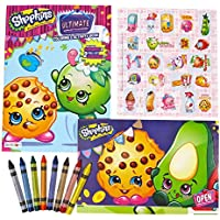 Shopkinsアクティビティ& Coloring Book、ステッカー、ポスター& Washableクレヨンby Little Boogers