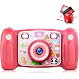 Victure Kids Camera Digital Rechargeable Selfie Action Camera 1080P HD 12MP with 2 Inch LCD Display and Shockproof Handles fo